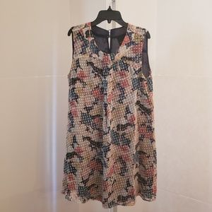 Anna Sui for Anthropologie floral print dress sz 8